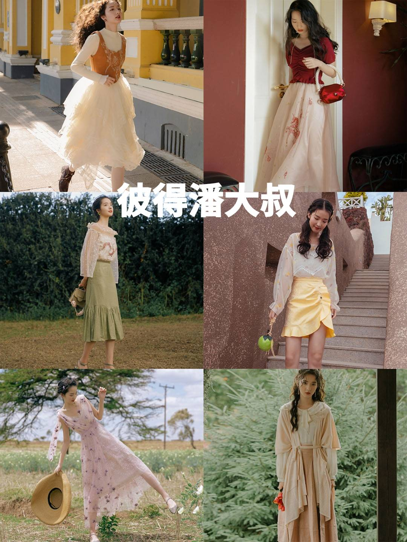春游野餐穿搭,仙女裙+草地,这样拍照才会抢镜!