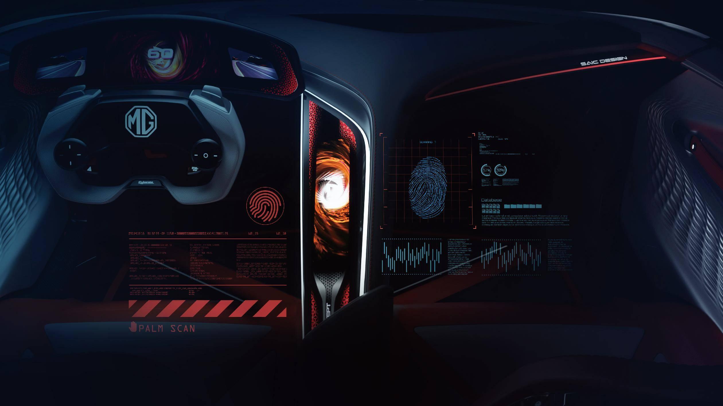 又一纯电动跑车来了!名爵Cyberster内饰官图发布