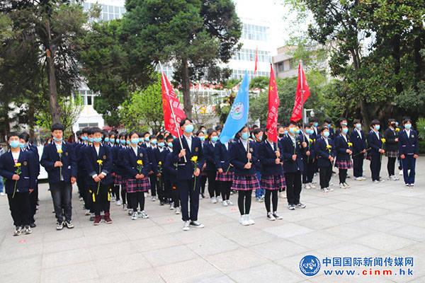 临颍县新时代实验学校开展:缅怀革命先烈 弘扬民族精神