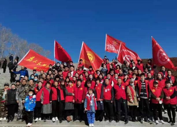 七台河市爱心公益联盟协会:清明时节祭英灵
