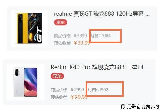 原创             realme GT挑战红米K40 Pro失败,销量就是证明