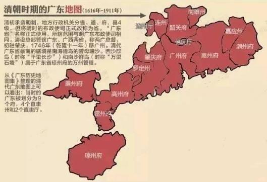 广东和广西的版图是异常怪异,及广西门户钦