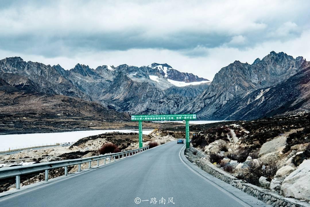 原创             四川巴塘姐妹湖,四五月份还下雪结冰,虽然免费却很少游客