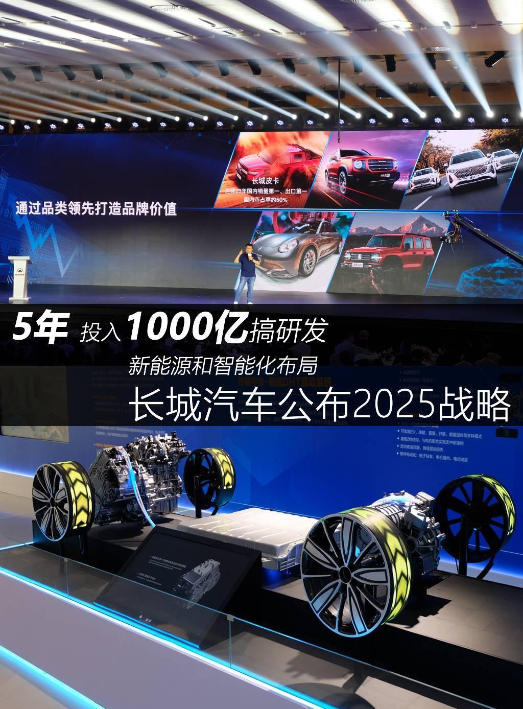 5年投入1000億搞研發 智慧化佈局 長城汽車公佈2025