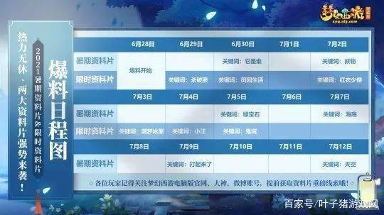 梦幻西游:暑期首部资料片即将来袭