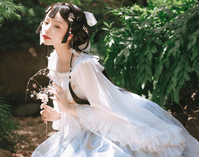 图片[8]-中国古风与洛丽塔的碰撞!顶级Lo娘谢安然实力演绎另类裙子,美如画-妖次元