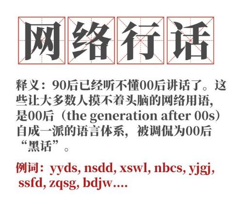 """火星文被大部分学生追捧网络流行语成年轻人""""标志""""插图11"""