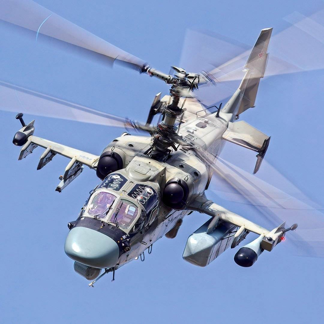 Ka-52M performing at the Army-2021 exhibition