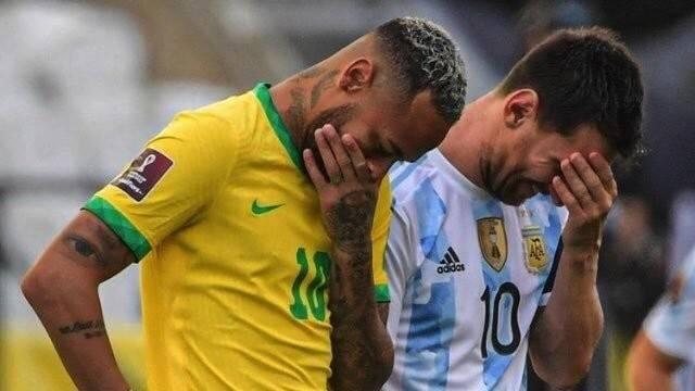 巴阿大战腰斩!巴西卫生部门要求驱逐阿根廷4将,梅西无奈:他们故意的