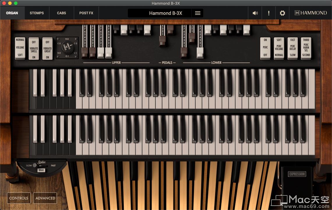 Hammond B-3X風琴虛擬樂器