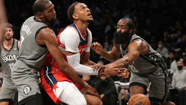 NBA常规赛继续进行,篮网主场迎战奇才,上半场比赛篮网就开启