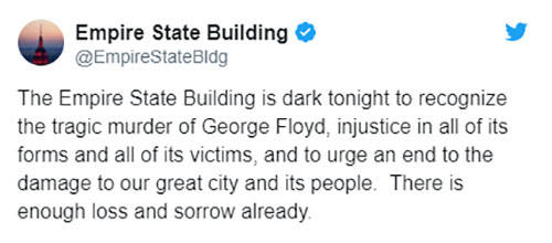 纽约帝国大厦熄灯纪念弗洛伊德