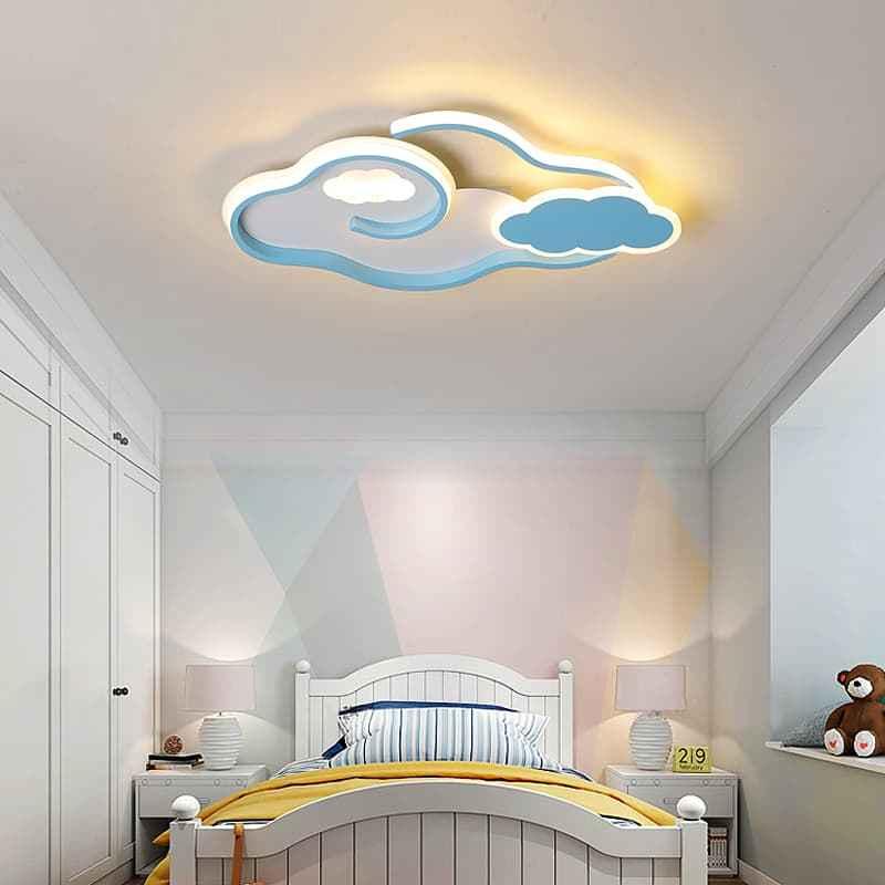 蓝色云朵儿童吸顶灯 04306