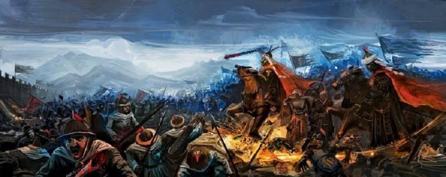 于是袁崇焕驻军城外,与后金军鏖战,互有胜负
