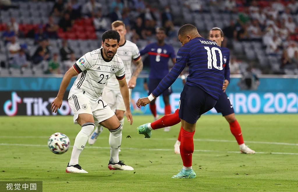 欧洲杯-姆巴佩进球被吹胡梅尔斯乌龙 法国1-0德国