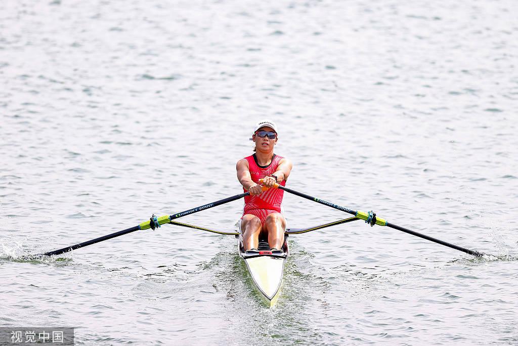 赛艇女单双桨预赛江燕晋级 中国香港小组第四进复活赛