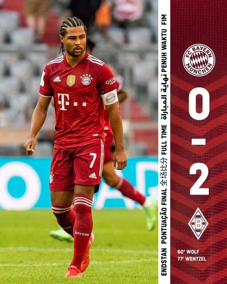 热身赛-格纳布里进球被吹 拜仁0-2门兴仍未尝胜绩