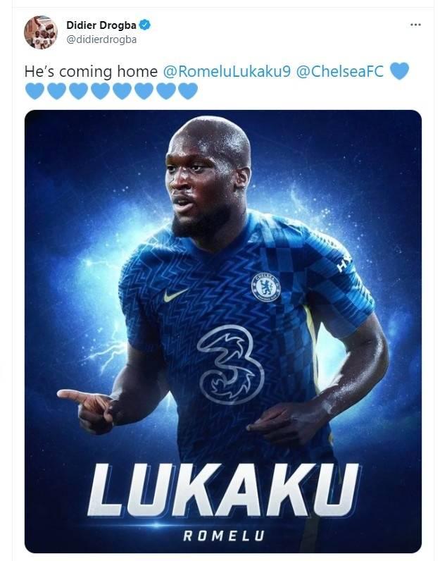 德罗巴晒卢卡库穿切尔西球衣的PS图:他要回家了!_万博体育平台