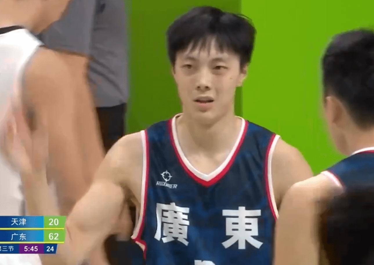 全运U22男篮-胡明轩16分周鹏14分 广东30分大胜天津