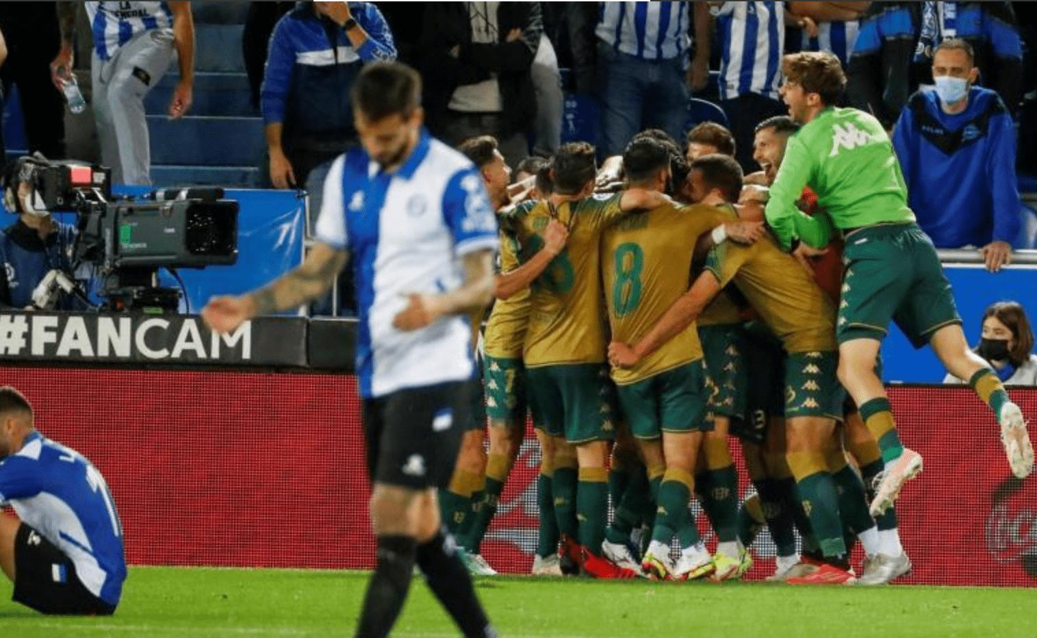 比赛日:贝蒂斯1-0绝杀阿拉维斯 佛罗伦萨客场0-1