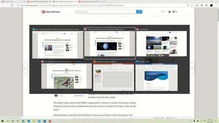 Win10新Alt+Tab体验:可切换应用窗口和Edge标签页的照片 - 2