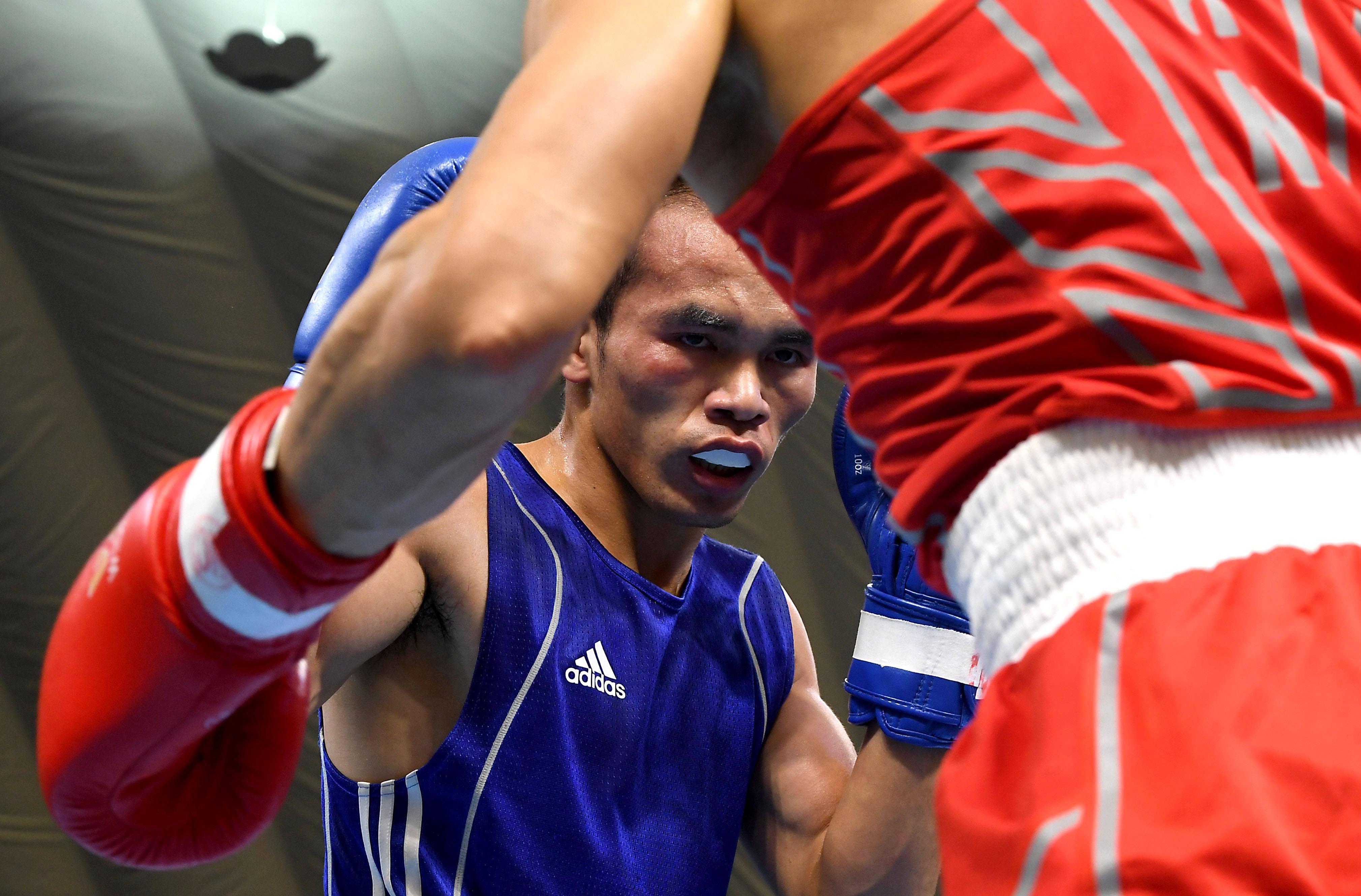 拳击——全国男子拳击锦标赛第二日赛况