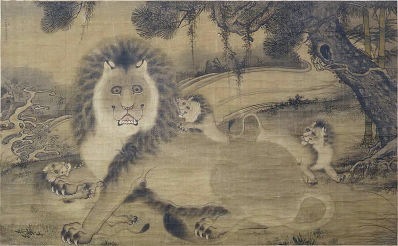 中国古代狮子图像中的误解:从明代周全《狮子图》说起