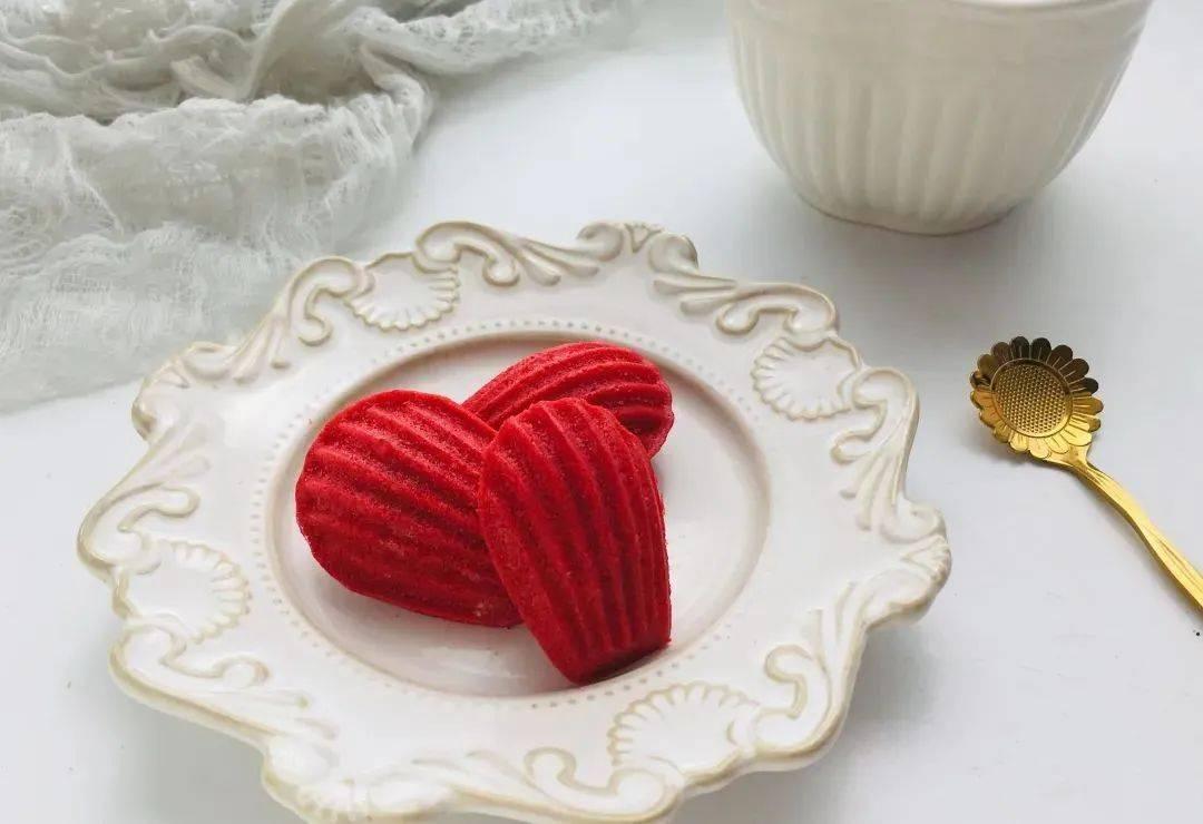 一种高贵的甜品,红丝绒柠檬玛德琳蛋糕,0失败了,你学会了就学会了