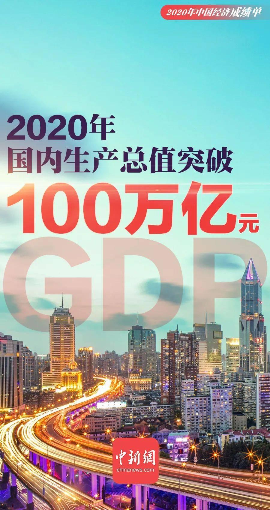 我国GDP总量首次突破100万亿元!