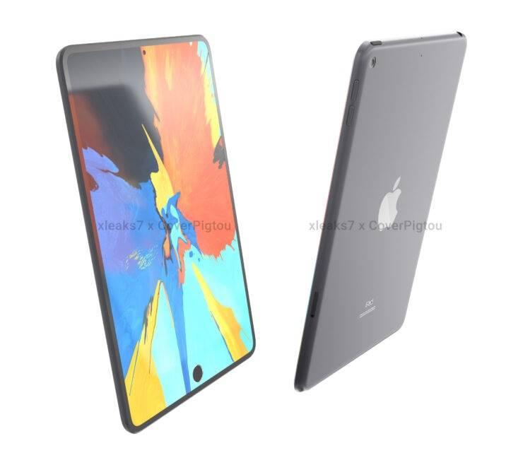 iPad mini 6 渲染图曝光:窄边框+屏幕指纹+中置打孔前摄