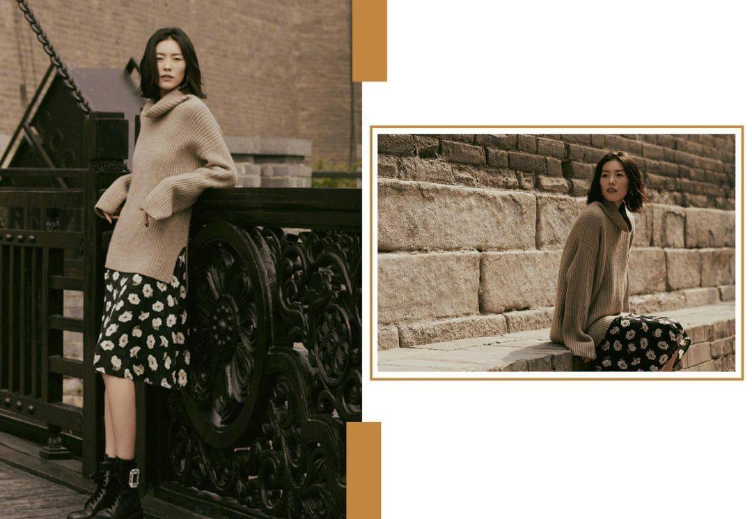 大毛衣+半身裙,一起来get毛衣冬天绝妙时髦法!