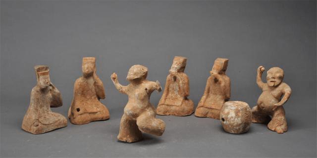 198件汉唐宋元时期乐舞戏曲文物亮相长沙简牍博物馆