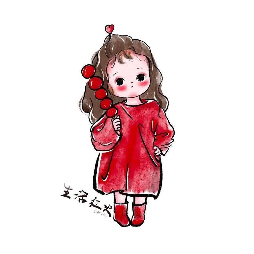 红色闺蜜头像  第16张