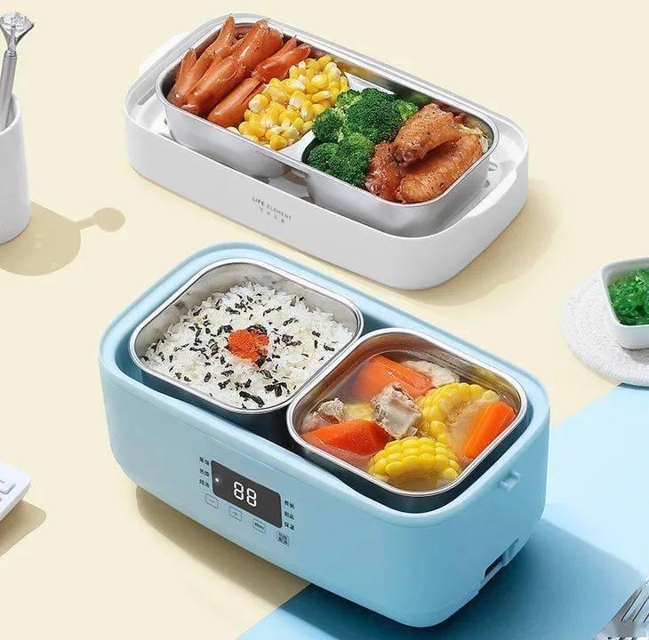 拒绝外卖|自备一个便携电热饭盒!煮饭炒菜煲汤全都能搞定~
