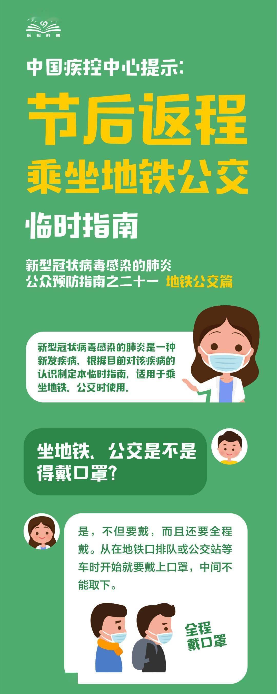 中国疾控中心提示:节后返程乘坐火车(乘坐火车、地铁公交篇)