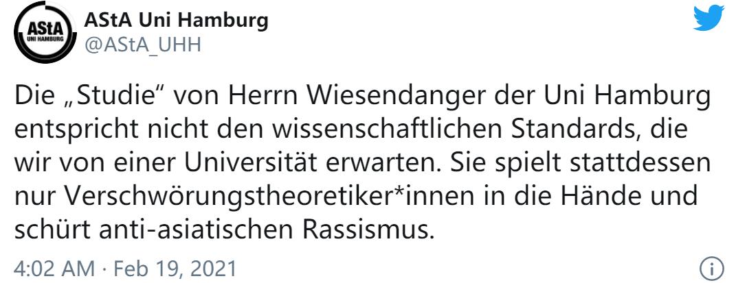 """德国教授所谓研究称""""新冠病毒起源于武汉实验室"""",德媒:存在漏洞,不能叫研究!"""