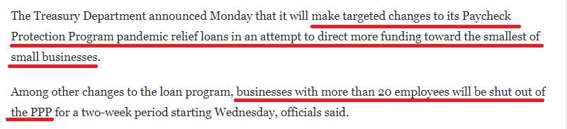 """环球深观察丨美国小企业想领""""救命钱"""",难!"""