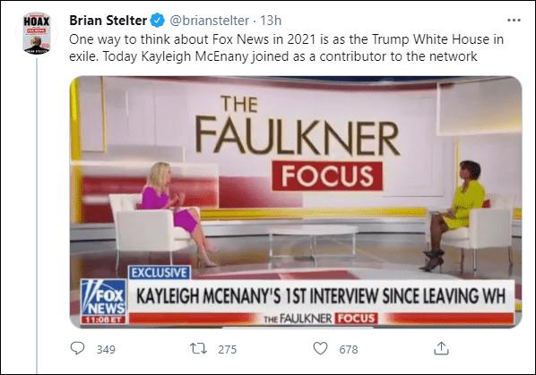 白宫前新闻秘书凯莉·麦克纳尼加入福克斯新闻