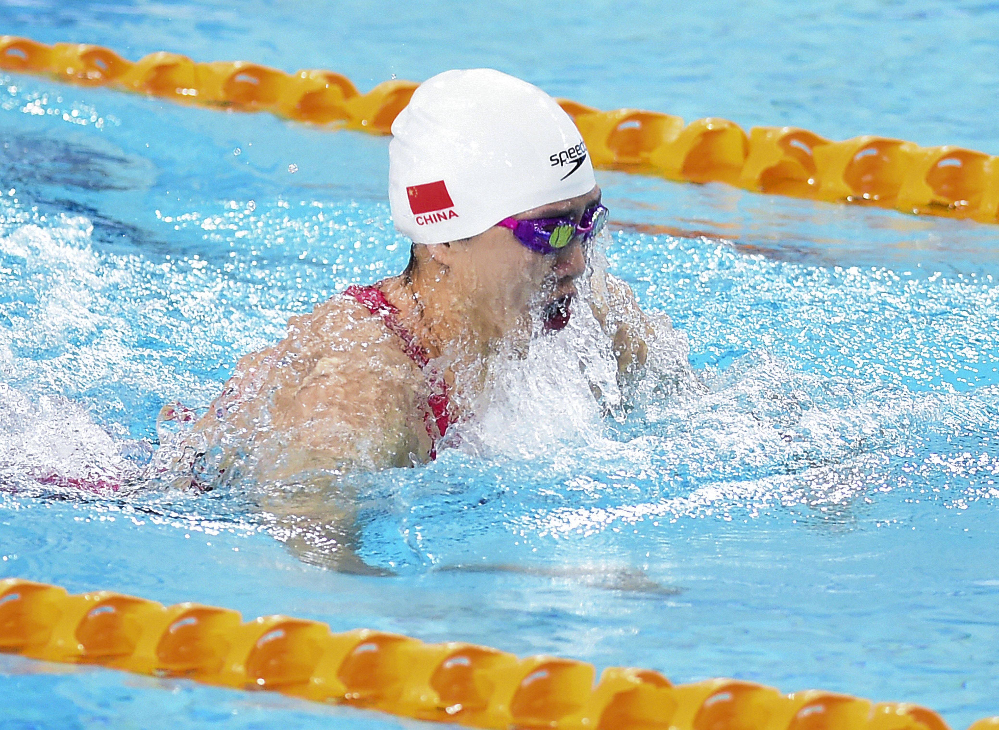 游泳——全国游泳争霸赛:唐钱婷获得女子100米蛙泳冠军