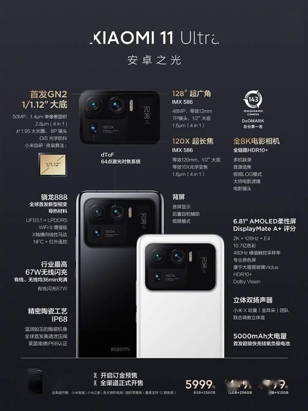 """小米11 Ultra正式发布:前后""""双屏""""、顶配6999元的照片 - 24"""