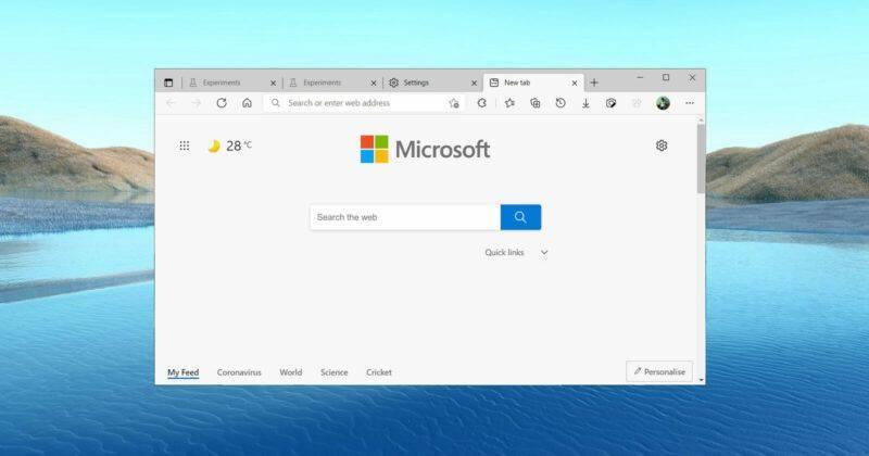 微软 Edge 浏览器将优化在 Win10 中的字体渲染