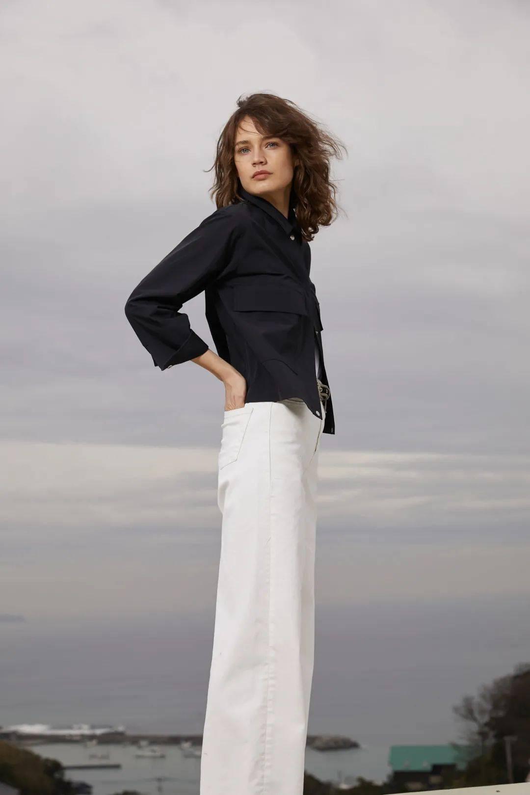 衬衫+阔腿裤,你想要的样子它都有