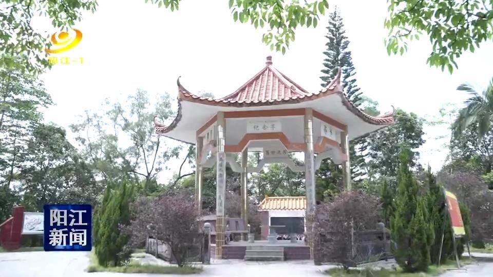 阳江县 屹立在梅花地上的阳江县人民民主纪念亭