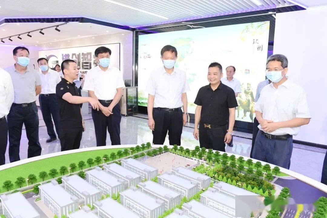 自治區副主席費志榮到欽州調研推進工業振興工作