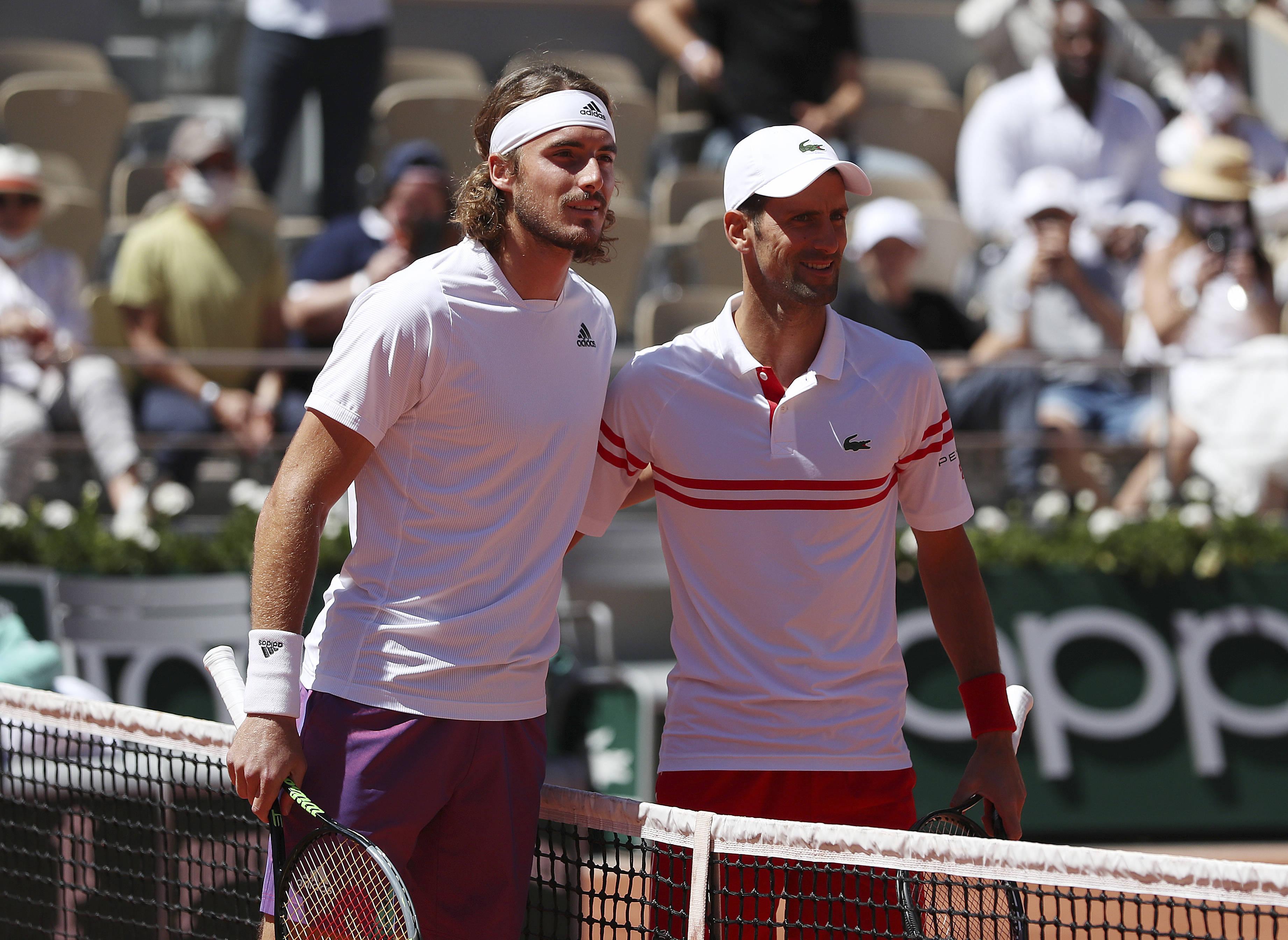 网球——法网男单决赛:焦科维奇对阵齐齐帕斯