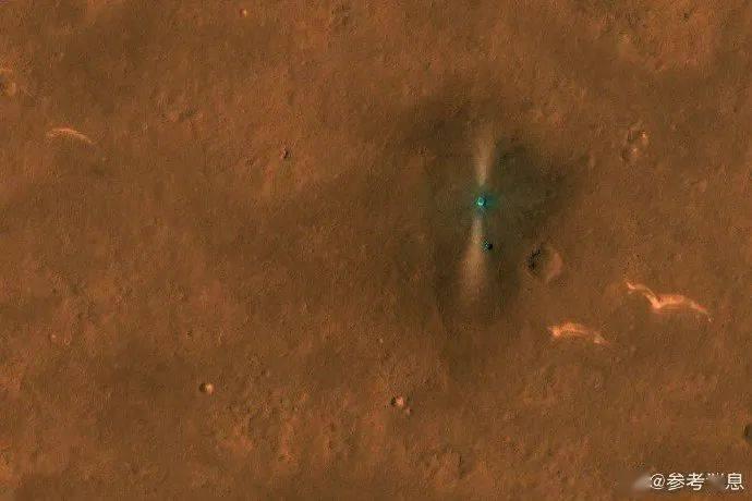 NASA飞行器拍到了祝融号