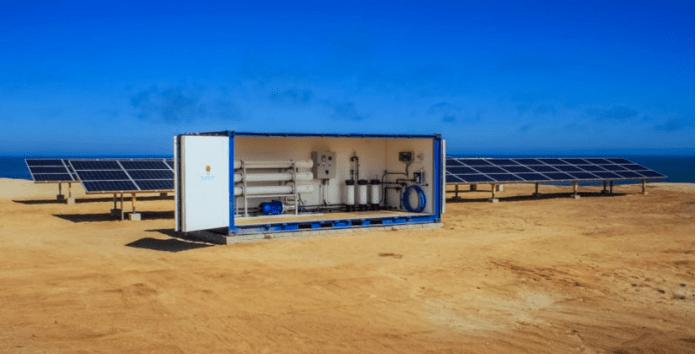 太阳能海水淡化装置,旨在为40万肯尼亚人送水