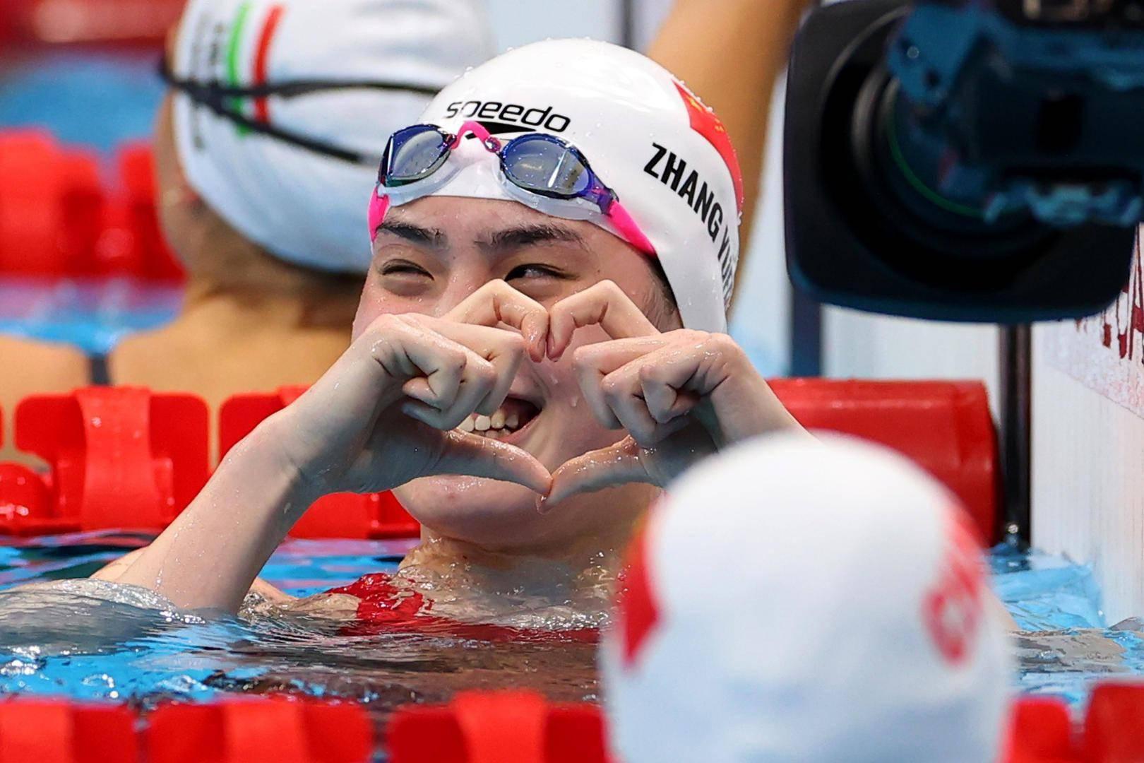 张雨霏摘下迟到的金牌:爱笑又努力的小姐姐,运气都不会差