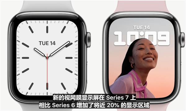 Apple Watch 7系列苹果智能手表发布:7年来首次大改的照片 - 3